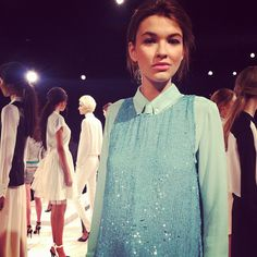 Teal sequins?! Yes, please. @marissawebbnyc #sparklespotting #nyfw #qvcstyle