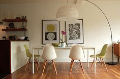 Fresh and spring-y dining room