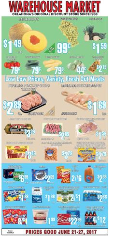 Warehouse Market Weekly AdJune 21 – 27, 2017 – Do you know what's in and what's hot in the Warehouse Market for this week? If you haven't, using the store's weekly advertisements will be your great guide. Have you been using these ads? Here are Warehouse Market ad this week 6/21/2017 – 6/27/2017 :