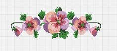 This Pin was discovered by Per Cross Stitch Borders, Cross Stitch Flowers, Cross Stitch Designs, Cross Stitching, Cross Stitch Embroidery, Cross Stitch Patterns, Rico Design, Embroidery Patterns Free, Little Designs