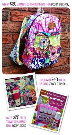 Super cool backpack. Paige is wanting a Vera Bradley backpack for next year but this has sooo much more personality. Totally unique, nobody else at her school would have one like it!
