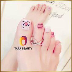Nails For Kids, Toe Nail Designs, Nail Art Hacks, Art Tips, Toe Nails, Print Tattoos, Beauty, Feet Nails, Fingernail Designs