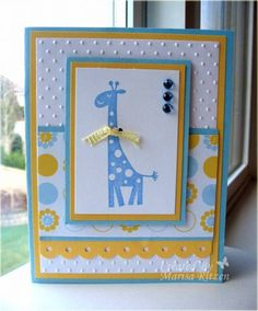 Stamps: Wild About You Paper: So Saffron, Cool Caribbean, Unknown DP Ink: Bliss Blue Accessories: Threading Water Punch, Swiss Dots EF, Blue Bling, yellow ribbon, dimensionals Read more: http://www.splitcoaststampers.com/gallery/photo/1597702#ixzz3587ybUaD