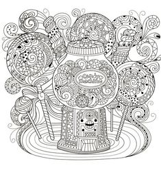 Adult Coloring Book Pages Mandala Colouring Sheets For Kids Books Food Clipart Color Patterns