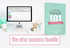 The Etsy Success Bundle from Paper + Spark - Etsy Seller bookkeeping spreadsheet and Crafting a Biz 101 e-workbook