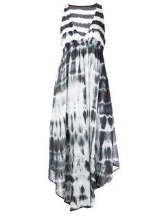 black and white tie dye dress for summer #style #summer
