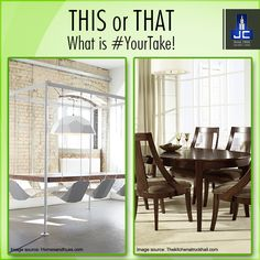 What's #YourTake? A dinning table cum swing or the traditional old school dining set? Share your views now! #JayceeHomes #HomeDecor #LuxuryHomes #Lifestyle #Preference #DiningIdeas #Design #FamilyDining #DreamHouse #Choices #InstaLike #InstaView #InstaGood #InstaMood #Igers