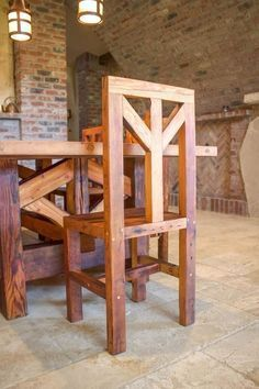 32 trendy Ideas for rustic furniture diy woodworking plans farm tables Farmhouse Table With Bench, Farmhouse Furniture, Wooden Furniture, Country Furniture, Handmade Furniture, Table Bench, Cheap Furniture, Furniture Design, Wood Tables