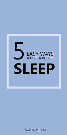 The best tips for getting the best sleep of your life!
