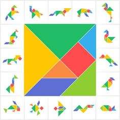 Find Tangram Puzzle Game Set Cards Kids stock images in HD and millions of other royalty-free stock photos, illustrations and vectors in the Shutterstock collection. Thousands of new, high-quality pictures added every day. Games For Kids, Diy For Kids, Crafts For Kids, Toddler Activities, Preschool Activities, Tangram Printable, Printable Crafts, Free Printable, Tangram Puzzles