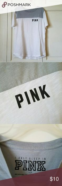 VS PINK sleep tee Worn twice! Size small, relaxed fit. PINK Victoria's Secret Intimates & Sleepwear