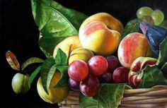 Fruit still life painting art lessons 41 Ideas Oil Painting Tips, Fruit Painting, Painting Videos, Painting Lessons, Painting Art, Art Lessons, Oil Paintings, Still Life Photos, Still Life Art