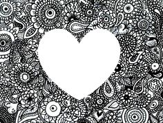 doodles with heart