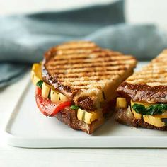 Grilled-cheese lovers, take note: These vegetable-filled panini take the sandwich to a new level. Tender delicata squash makes a delicious partner for melted Gruyère cheese. -Visit PaneraBread.com for more inspiration.