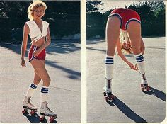 Vintage roller girl  HALLOWEEN