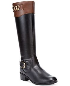 Karen Scott Women's Darlaa Tall Riding Boots - just bought some : ) Sock Shoes, Shoe Boots, Shoe Bag, Shoe Gallery, Tall Riding Boots, Dressed To The Nines, Karen Scott, Boots Online, Pretty Shoes