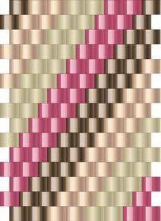 Spiral Tube Charted Peyote Stitch Pattern