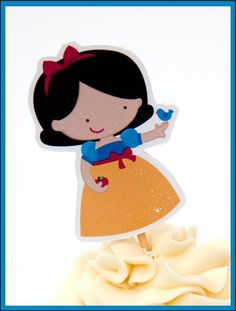 Princess Party - Set of 12 Snow White Cupcake Toppers by The Birthday House. $6.00, via Etsy.
