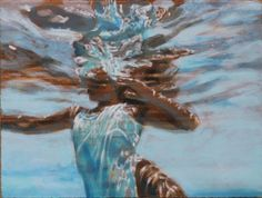 "Carol Bennett, ""Reach"", 11 x 15, Acrylic, Oil on Ppaer 
