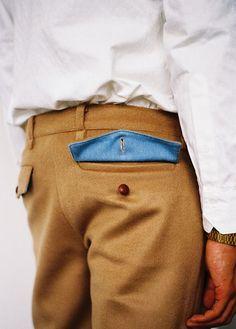 Classy Pants, Under colors Fashion Details, Look Fashion, Mens Fashion, Fashion Outfits, Fashion Design, Men Trousers, Trouser Pants, Style Masculin, Unisex
