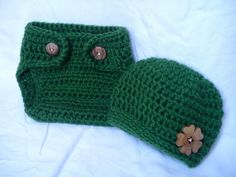Crochet newborn HAT and Diaper Cover Set  St by CorneliusCreates, $21.00