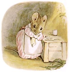 She swept, and scrubbed, and dusted; and she rubbed up the furniture with beeswax, and polished her little tin spoons.