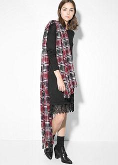 Manteau à capuche amovible - Robes pour Femme | MANGO