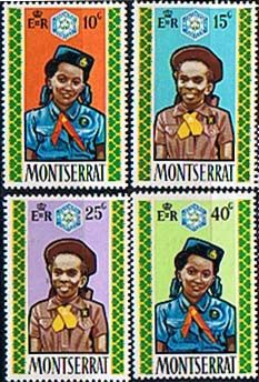 Montserrat 1970 Girl Guides Diamond Jubilee Set Fine Mint SG 264 7 Scott 252 5 Condition Fine MNH Only one post charge applied on multipule purchases