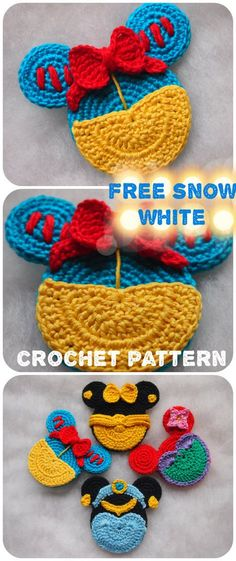 This and other Mouse ornaments are the perfect, handmade addition for you to work up and add to your Crochet Crafts, Crochet Toys, Crochet Baby, Crochet Projects, Free Crochet, Knit Crochet, Crochet Clothes For Women, Knitting Patterns, Crochet Patterns
