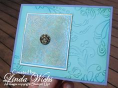 Gold Emboss Resist 2 by TinyAcorns - Cards and Paper Crafts at Splitcoaststampers