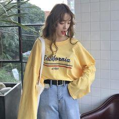 California 1980 Long Sleeve sold by shopyukii . Cute Fashion, Teen Fashion, Korean Fashion, Fashion Outfits, Aesthetic Fashion, Aesthetic Clothes, Outfits For Teens, Cute Outfits, Summer Lookbook