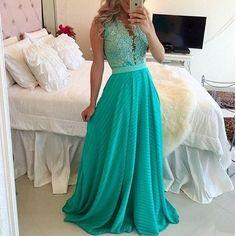 Deep V-Neck Slim Waist Full-Length Dress