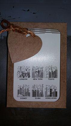 Caderneta de ideias com gravação a laser e caixa Kraft