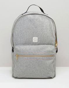 Image 1 of Jack Wills Backpack In Grey Wool