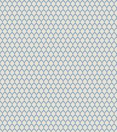 "Eaton Square Print Fabric 51""-Cally/Cobalt"
