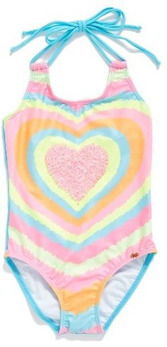 Toddler Girl's Pilyq Embellished One-Piece Swimsuit
