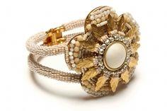 Miriam Haskell flower hinged bracelet