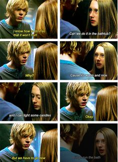 When Tate tried to save Violet from discovering that she was already dead from when she attempted suicide.