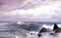Gull Rock, Newport, Rhode Island (William Trost Richards  )