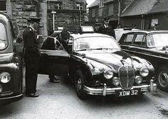 1964 Jaguar - The English Car Company Army Police, Police Patrol, British Police Cars, British Car, Jaguar S Type, Jaguar Cars, Emergency Vehicles, Police Vehicles, Van Car