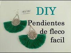 Diy. Pendientes de fleco muy facil. Maxi pendientes con fleco hecho a mano muy facil . Silk Thread Earrings, Thread Jewellery, Leather Earrings, Handmade Jewelry Tutorials, Diy Jewelry Making, Diy Tassel, Tassel Jewelry, Tassel Earrings, Jewlery