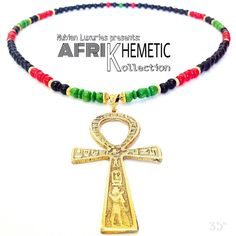Pan African Marcus Garvey Garveyite Ankh Necklace Ankhlace Egyptian Necklace Ankh Jewelry Afrocentric Jewelry Black Pride Pan African Flag by NubianLuxuriesBrand on Etsy https://www.etsy.com/listing/277561616/pan-african-marcus-garvey-garveyite-ankh