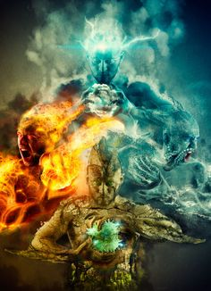 The Four Elements, Water, Air, Fire & Earth! Myself I am A Cancer The Crab A Water Sign!