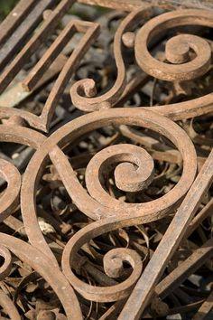 Old iron gate (detail)