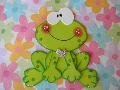Risultati immagini per sapitos en goma eva Frog Crafts, Diy And Crafts, Crafts For Kids, Arts And Crafts, Paper Crafts, Punch Art, Kids Cards, Paper Piecing, Art For Kids