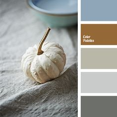 """Warm shades of gray and brown are suitable for a kitchen, a living room, a study or a bedroom. This palette will be liked by men, as it is quite """"masculine."""