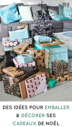 Des idées pour emballer ses #cadeaux #noel #emballage #diy #noel2020 Decorative Boxes, Gift Wrapping, Gifts, Diy, Kraft Paper, Packaging, Gift Wrapping Paper, Presents, Bricolage