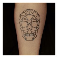 Skull tattoo, geometrical skull, tattoo, skull, geometrical tattoo