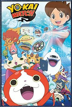 YoKai Watch  Framed Manga  Anime TV Show Poster  Print Characters Size 24 x 36 >>> For more information, visit image link.Note:It is affiliate link to Amazon.