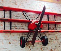 The red baron custom airplane wall shelves for boys who like toys Aviation Decor, Airplane Decor, Airplane Lights, Airplane Nursery, Baby Bedroom, Bedroom Decor, Bedroom Storage, Childs Bedroom, Bedroom Ideas